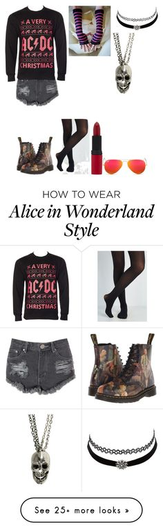 """Untitled #384"" by jjgraybill01 on Polyvore featuring Glamorous, Dr. Martens, Rimmel, Ray-Ban and Charlotte Russe"