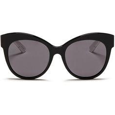 Blanc & Eclare 'Paris' polka dot print temple acetate sunglasses (365 SGD) ❤ liked on Polyvore