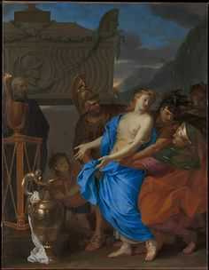 Charles Le Brun (French, 1619–1690). The Sacrifice of Polyxena, 1647. The Metropolitan Museum of Art, New York. Purchase, 2012 Benefit Fund, and Bequest of Grace Wilkes and Fletcher Fund, by exchange, 2013. (2013.183) #paris