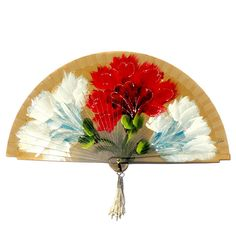 Spanish hand painted wooden fan