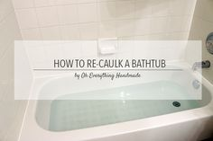 How to Re-Caulk a Bathtub - Few weeks ago, I had to re-caulk our bathtub due to some spots of mold along the caulk line. You will be amazed on what was behind t…