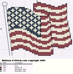 American flag cross stitch pattern