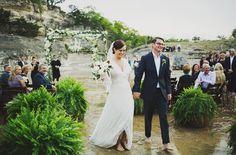 Lauren & Andrew's Wedding | Designer & Planner: Liv by Design | Ariel Renae Photography | Green Wedding Shoes   #wedding in a river