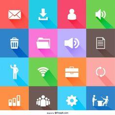 Free flat icons design