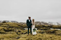 """Intimate Lakeside Iceland Wedding."" Photo Credit: Lindsey Boluyt Photography. From Green Wedding Shoes."