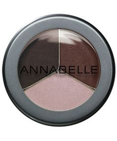 Annabelle - Trio Eyeshadow - Haute Chocolate. Have been using this for years.. for some reason i just love it. Nice matte colours, good pigment, easy blending. Super cheap as well. The lightest colour is one of my fav all-over-lid colours and the darkest is a great eyeliner shade.