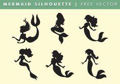 Mermaid Silhouette Vector Free 120615