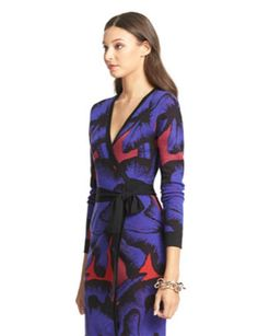 Diane Von Furstenberg Mini Leandra Wool Wrap Dress