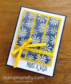Delightful Daisy Designer Series Paper & Happy Birthday Gorgeous birthday card created by Mary Fish, Stampin' Up! Demonstrator. 1000+ StampinUp & SUO card ideas. Read more https://stampinpretty.com/2017/05/a-favorite-card-sketch-free-wish-list-pdf.html
