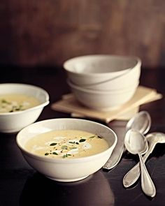 vichyssoise with goat cheese