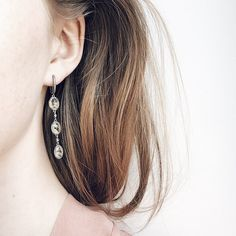 oxidized sterling silver earrings with colored crystals