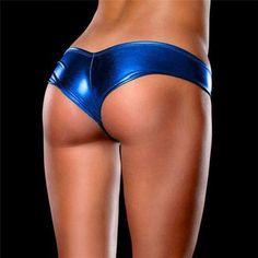 Bikini crotch floss open