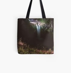 Snoqualmie Falls, My Arts, Reusable Tote Bags, Art Prints, Printed, Night, Awesome, Stuff To Buy, Products