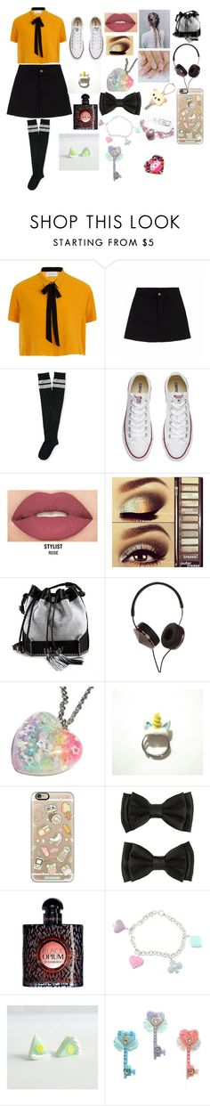 """feeling kawaii anyone"" by zia-begum ❤ liked on Polyvore featuring Elvi, Aéropostale, Converse, Smashbox, Urban Decay, Carianne Moore, Frends, Casetify, Yves Saint Laurent and Sterling Essentials"