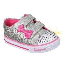 05db65b09230 Girls  Skechers Twinkle Toes Shuffles Starlight Style Sneaker  Hot Pink  Zapatos