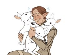 Inquisitor Lavellan and baby hallas Dragon Age: Inquisition Dragon Age Funny, Draw Your, Having A Bad Day, Make Me Smile, Holi, Something To Do, My Arts, Fan Art, Cute