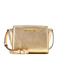 MICHAEL Michael Kors - Selma Messenger Small leather shoulder bag #accessories #michaelkors #women #designer #covetme #michaelmichaelkors