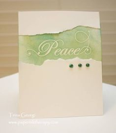 Peace (CFC78 and CTS#5) by tgeorgi - Cards and Paper Crafts at Splitcoaststampers