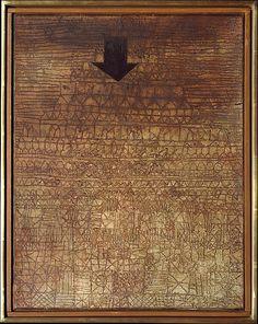 Stricken City  Paul Klee (alemán (nacido en Suiza), Münchenbuchsee 1879-1940 Muralto-Locarno)  Fecha: 1936 Medio: Yeso y óleo sobre lienzo Dimensiones: H. 17-3/4, 13-7/8 pulgadas W. (45,1 x 35,2 cm.) Clasificación: Pinturas Línea de crédito: La Colección Berggruen Klee, 1987
