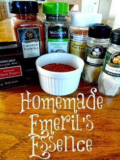 Do you enjoy Emeril's Essence to season your food? Here is a much more inexpensive way to have the same wonderful flavors of Emeril's!