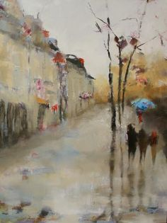 """Artist - Susie Pryor   """"Paris Remembered"""" ...if this was not sold I would buy it, so lovely!"""