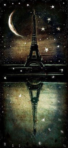 30 Best acrylic painting ideas For Beginners - (8) Paris Eiffel Tower.