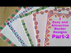 5 Easy And Attractive Border Designs For Greeting Cards Part 2 Diy Children You