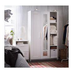BRIMNES 3-ovinen vaatekaappi  - IKEA