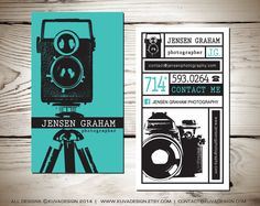 Vintage Photography Business Card Design by KuvaDesign on Etsy