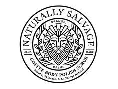 Dribbble - Naturally Salvage Label Seal by Amy Hood City Branding, Logo Branding, Branding Design, Brand Identity, Seal Design, Label Design, Logos, Seal Logo, Woodworking Logo