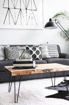 10 Wohnzimmer-Ideen wie man perfektes skandinavisches Design gestalten