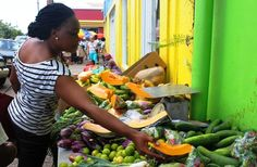 Top 10 things to do in St Kitts - visit Basseterre market for Caribbean flavours and colour :-)