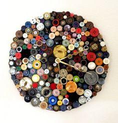 colourful button clock