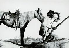 Navajo Hunter looking for Game Navajo Indian Reservation - [ca. 1905] Princeton University Library. Department of Rare Books and Special Collections.