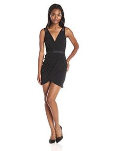 BCBGeneration Women's Surplice Lace Y…