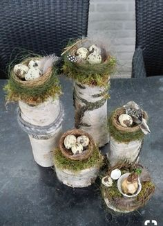 Easter birch trunk with bird nest Fayette . - Easter birch trunk with bird& nest – Fayette Weber – - Fleurs Diy, Deco Floral, Nature Crafts, Holiday Traditions, Easter Wreaths, Spring Crafts, Easter Crafts, Easter Ideas, Easter Eggs