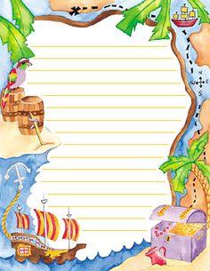 Fiesta de piratas: invitaciones para imprimir gratis. | Ideas y material gratis para fiestas y celebraciones Oh My Fiesta!