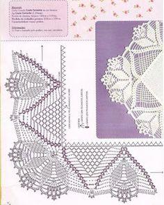"Photo from album ""Punto Cruz"" on Yandex. Crochet Border Patterns, Crochet Boarders, Crochet Lace Edging, Crochet Chart, Filet Crochet, Irish Crochet, Diy Crochet, Crochet Doilies, Crochet Stitches"