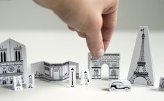 Joel Henriques designed this city of Paris paper toys to occupy his kids during trips. This paper toy set is very easy to make and . Mini Paris, Activities For Kids, Crafts For Kids, Kindergarten Activities, Preschool Crafts, Rainy Day Fun, Mint Tins, Thinking Day, Paris City