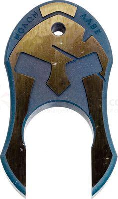 Andre De Villiers Knives Blue Anodized Titanium Spartan Knuck - KnifeCenter - SPARTAN KNUCK GEN 2