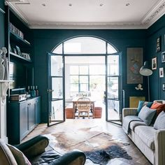 Living room | Take a tour of this reconfigured Edwardian semi in London | housetohome.co.uk