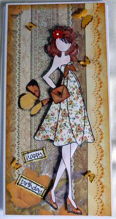Julie Nutting doll stamp (Shay)