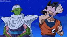 Grandpa Goku and uncle Piccolo with Pan