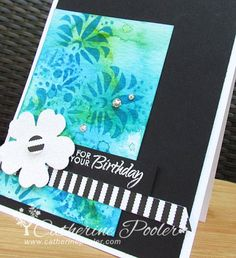I had SO. MUCH. FUUUN. making this card. http://catherinepooler.com/2014/06/distress-ink-water-embossing-oh-fun/