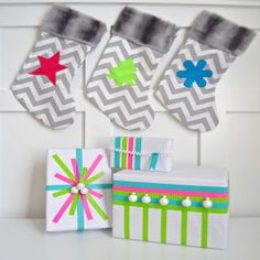 Find out how to make this Gift-styling trend: Neon Styled. #ScotchStyle