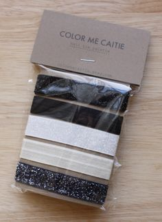 WANT! Elastic Hair Ties  black glitz palette set of 5 by colormecaitie, $8.00