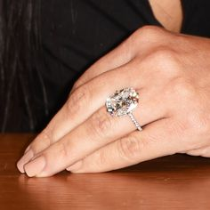 """Kim K's stupid huge new """"conflict free diamond""""... It's annoying that they have that much money because people are sheep.  But since I love diamonds, I'll post the DIAMOND"""