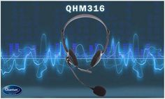 Soft leatherette padded headband and earcups allows you to talk or listen in comfort, for hours on end! #QHM316 Headphones #QuantumHiTech