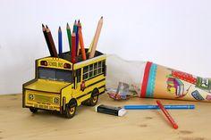 Die Schulbus-Stiftbox für die Schultüte – Alles Gute zur Einschulung!