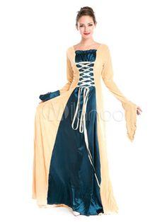 Women's Vintage Costume Halloween Medieval Royal Masquerade Dress